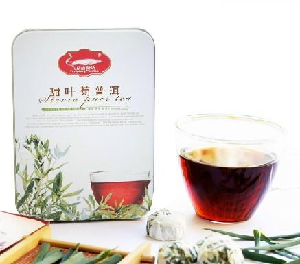 برگ خشک استویا همراه چای
