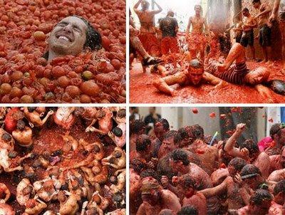 جنگ با گوجه فرنگی